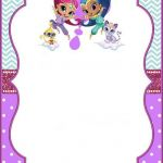 Shimmer and Shine Printables Inspired Shimmer and Shine Invitation Template Free Awesome Unicorn