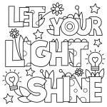 Shimmer and Shine Printables Inspiring Revisited Let Your Light Shine Coloring Page Free General Quotes