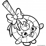 Shopkin Coloring Books Creative Print Lolli Poppins Coloring Pages