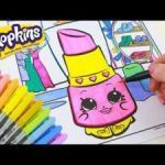 Shopkin Lippy Lips Exclusive √ Crayola Magic Coloring Book and Shopkins Lippy Lips Speed