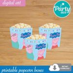 Shopkin Popcorn Boxes Excellent Peppa Pig Birthday Party Printable Popcorn Snack Candy
