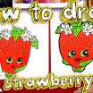 Shopkin Strawberry Kiss Creative How to Draw Strawberry Kiss Shopkins Drawing Fun