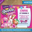Shopkins Bubble Gum Exclusive 5x7 Invitation Template Free Sansu Rabionetassociats