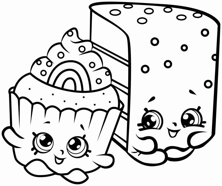 Shopkins Coloring Sheet Brilliant Inspirational Black and White Cupcake Coloring Pages – Nicho