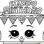 Shopkins Cupcake Wrappers Inspirational Happy Birthday Shopkins Coloring Pages