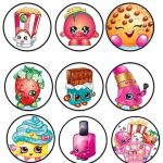 Shopkins Cupcake Wrappers New Shopkins Cupcake toppers or Stickers Digital 2 Inch