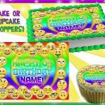 Shopkins Cupcake Wrappers Unique Emoji Faces Edible Cake topper Frosting Sheet Sugar Paper Picture
