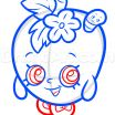Shopkins Pictures Of Shopkins Wonderful How to Draw Apple Blossom From Shopkins Step by Step Characters