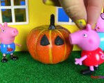 Shopkins Pumpkin Halloween Beautiful Part 1 Peppa Pig for Halloween with George Pig Papa Pig Mama Pig In