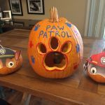 Shopkins Pumpkin Halloween Brilliant Paw Patrol Pumpkins Used Nick Jr Printed Masks and Paint for Eyes