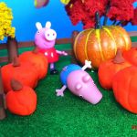 Shopkins Pumpkin Halloween Creative Part 1 Peppa Pig for Halloween with George Pig Papa Pig Mama Pig In