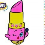 Shopkins Season 1 Lippy Lips Best Coloring Pages Design Templates