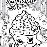 Shopkins to Print Creative Cupcake Coloring Page