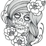 Simple Sugar Skull Coloring Pages Awesome Sugar Skull Coloring Sheets