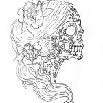 Simple Sugar Skull Coloring Pages Beautiful Coloring Page Incredible Sugar Skull Coloring Pages Page Woman