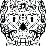 Simple Sugar Skull Coloring Pages Beautiful Fresh Colored Sugar Skull Coloring Pages – Doiteasy