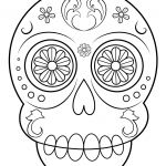 Simple Sugar Skull Coloring Pages Best Coloring Page Incredible Sugar Skull Coloring Pages Page Free