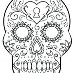 Simple Sugar Skull Coloring Pages Best Tattoo Coloring Pages Printable Tattoo Coloring Pages Printable