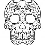 Simple Sugar Skull Coloring Pages Brilliant Easy Sugar Skull Owl Clipart Clip Art Library