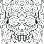 Simple Sugar Skull Coloring Pages Excellent Free Color Pages for Adults – Trustbanksuriname