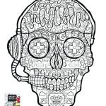 Simple Sugar Skull Coloring Pages Excellent Skull Color Pages – Zupa Miljevci