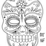 Simple Sugar Skull Coloring Pages Exclusive Free Printable Character Face Masks Seasonal Activities