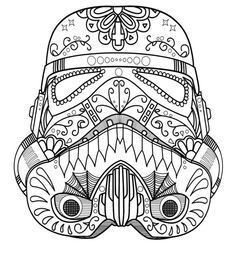 Luxury Star Wars Sugar Skull Coloring Pages – Kursknews
