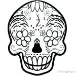 Simple Sugar Skull Coloring Pages Inspired Skulls Coloring Pages – Vitalmethod