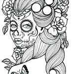Simple Sugar Skull Coloring Pages Marvelous Skull Coloring Sheets Skull Coloring Sheets Girly Skull Coloring