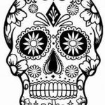 Simple Sugar Skull Coloring Pages Pretty 254 Best Sugar Skulls Day Of the Dead Coloring Pages for Adults