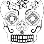 Simple Sugar Skull Coloring Pages Pretty Coloring Ideas 60 Fantastic Sugar Skull Coloring Pages for Kids