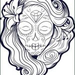 Simple Sugar Skull Coloring Pages Wonderful Sugar Skulls Coloring Pages – Salumguilher