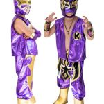 Sin Cara Picture Marvelous Kid Costume Bo Sin Cara and Kalisto In Purple Color Masksports