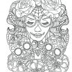Skull Adult Coloring Pages Inspiration Cool Sugar Skull Coloring Pages Ideas