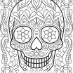 Skull Coloring Books for Adults Amazing Coloring Papers Sansu Rabionetassociats