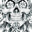 Skull Coloring Books for Adults Awesome therapeutic Coloring Sheets – Providentparksquarefo