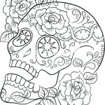 Skull Coloring Books for Adults Inspired Sugar Skull Coloring Sheets