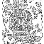 Skull Coloring Books for Adults Pretty Sugar Skull Coloring Page