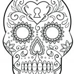 Skull Coloring Pages to Print Awesome Coloring Pages Sugar Skull Coloring Page Printable Free Pages Day