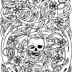 Skull Coloring Pages to Print Inspired Lovely Sugar Skull with Flowers Coloring Pages – Nicho