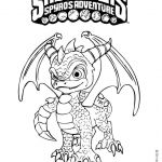 Skylander Coloring Pages to Print Amazing Spyro Coloring Page More Skylanders Coloring Sheets On Hellokids