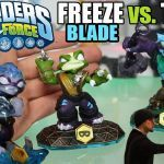 Skylanders Wind Up Beautiful Skylanders Swap force Trap Shadow Vs Freeze Blade Battle Mode