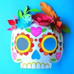 Smiley Face Mask Printable Beautiful Day Of the Dead Diy Pdf Printables Crafts Recipes and Activities…