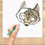 Smiley Face Mask Printable Brilliant Wolf Mask Wolf Mask Kids Diy Wolf Party Favor Wolf Costume Diy