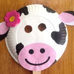Smiley Face Mask Printable Creative Chick Fil A Cow Day Paper Plate Cow Masks with Free Printables