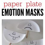 Smiley Face Mask Printable Pretty Paper Plate Emotion Masks Mrs Kissell Teacher at Last