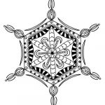 Snowflake Coloring Book Brilliant Bejeweled Snowflake Adult Coloring Page