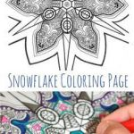 Snowflake Coloring Book Excellent 12 Best Coloring Pages Images