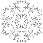 Snowflake Coloring Book Inspirational Book Cut Out Template