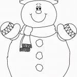 Snowmen Coloring Pages Inspirational Smilling Snowman Coloring Pages Free Christmas Crafts